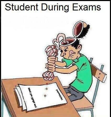 Student durning exams