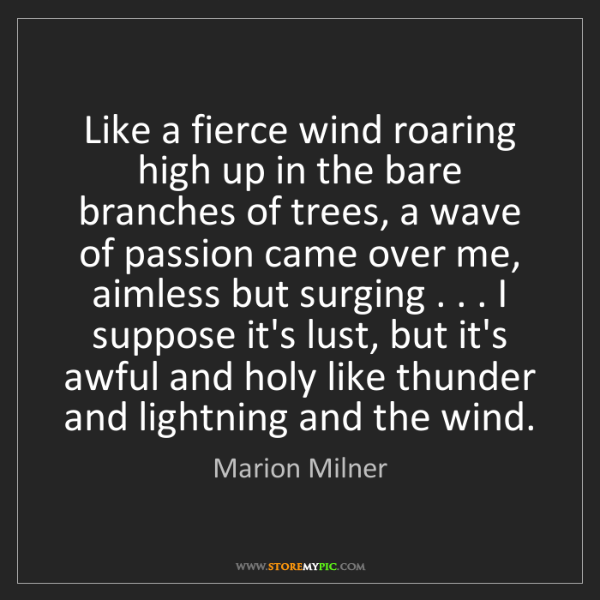 Marion Milner: Like a fierce wind roaring high up in the bare branches...