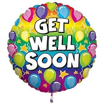Get well soon balloons animated