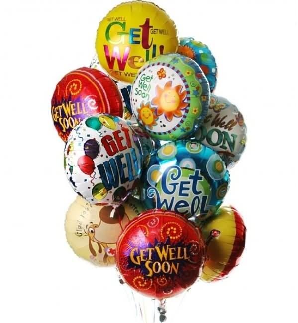 Get well soon beautiful balloons