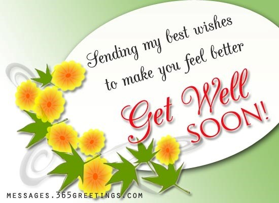 Sending my best wishes to make you feel better get well soon
