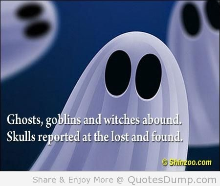 Ghostsgoblins and witches abound skull reported at the lost and found