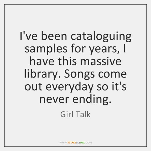 girl talk samples