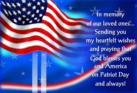 God bless you and america on patriot day and always