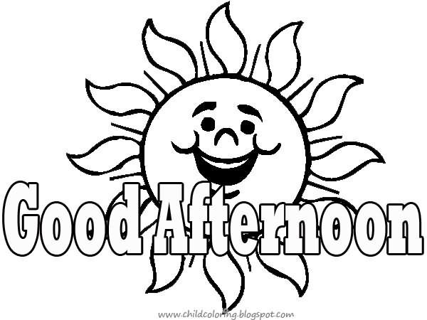 Good afternoon sun outline