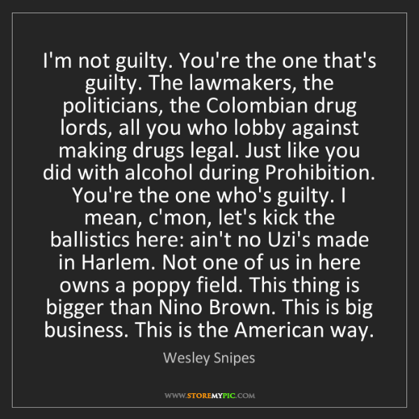 Wesley Snipes: I'm not guilty. You're the one that's guilty. The lawmakers,...