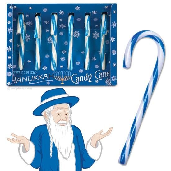 Hanukkah candy cane