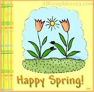 Happy spring greeting card storemypic liked like share m4hsunfo