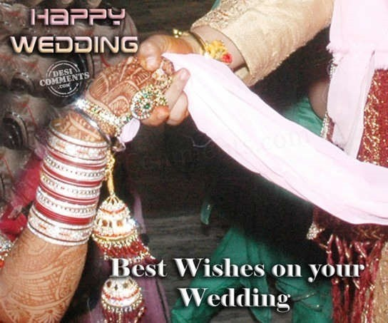 Happy wedding best wishes on your wedding