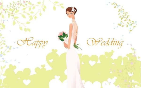 Happy wedding bride image