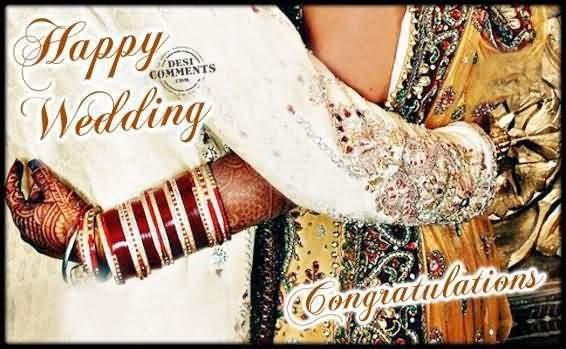 Happy wedding congratulations