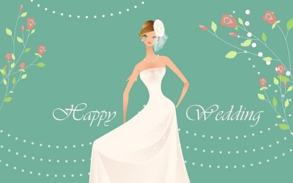 Happy wedding wallpaper for desktop