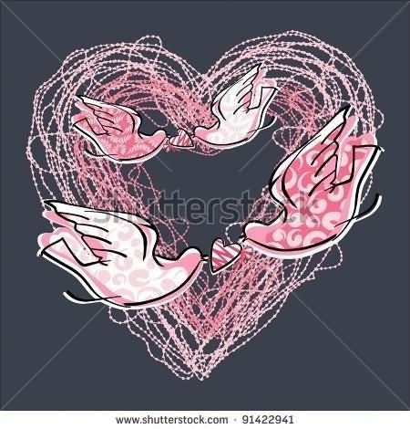 Heart piegon