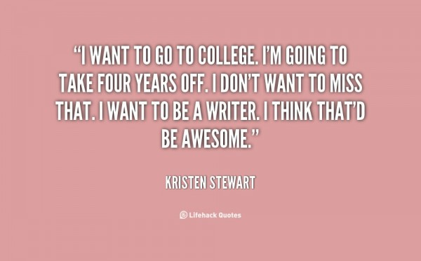 I want to go to college im going to take four years off