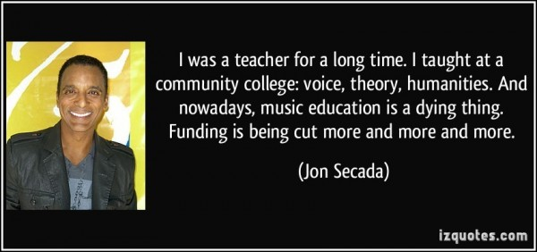 I was a teacher for a long me i taught at a community college voice theory humanities