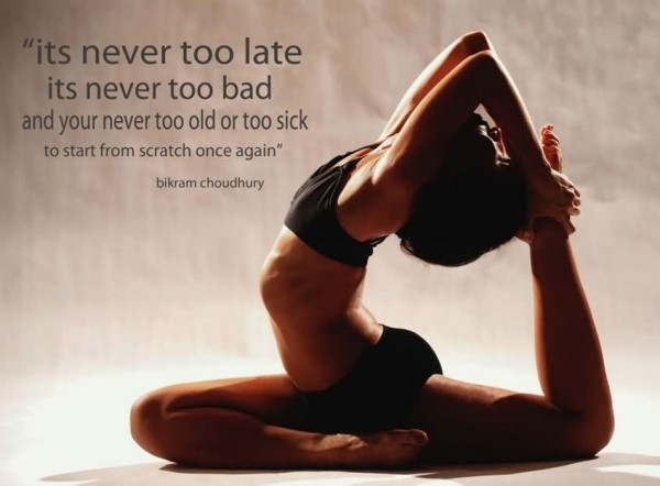 Its never too late its never too bad and you never too old or too sick to start from scratch once ag