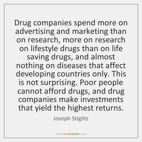 Drug companies spend more on advertising and marketing than on research, more ...