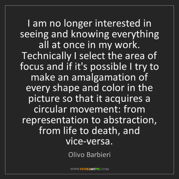 Olivo Barbieri: I am no longer interested in seeing and knowing everything...