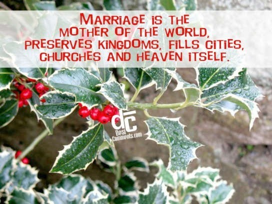 Marriage is the mother of the world wedding