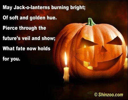 May jack lanterns burning bright of soft and golden hue piece through the futures viel and show what