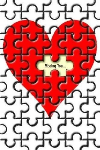Missing you puzzle heart