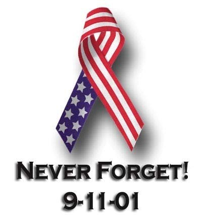 Never forget 9 11 01 american flag ribbon picture