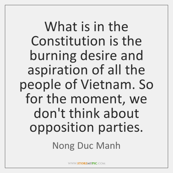 What is in the Constitution is the burning desire and aspiration of ...