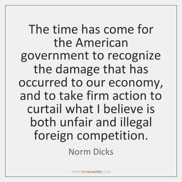 The time has come for the American government to recognize the damage ...