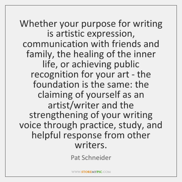 Whether your purpose for writing is artistic expression, communication with friends and ...