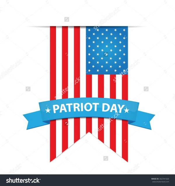 Patriot day us flag vector