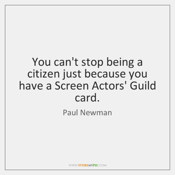 You can't stop being a citizen just because you have a Screen ...