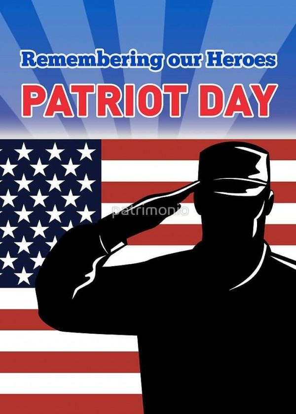 Remembering our heroes patriot day american soldier saluting