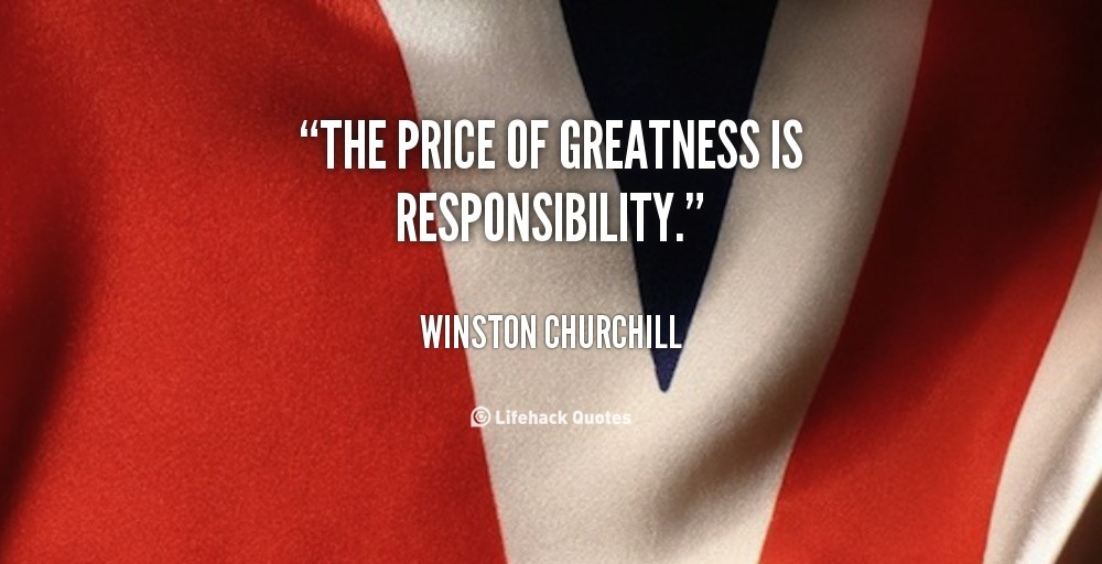 the price of greatness is responsibility sat essay