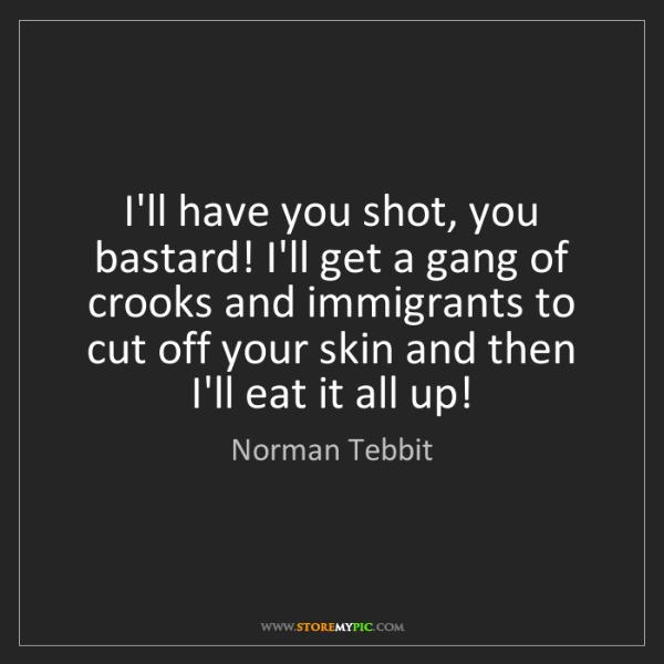 Norman Tebbit: I'll have you shot, you bastard! I'll get a gang of crooks...