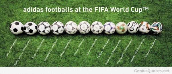 Adidas footballs at the fifa world cup