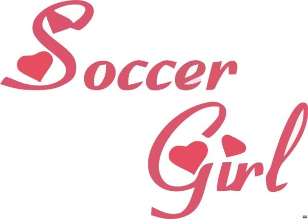 Soccer girl graphic