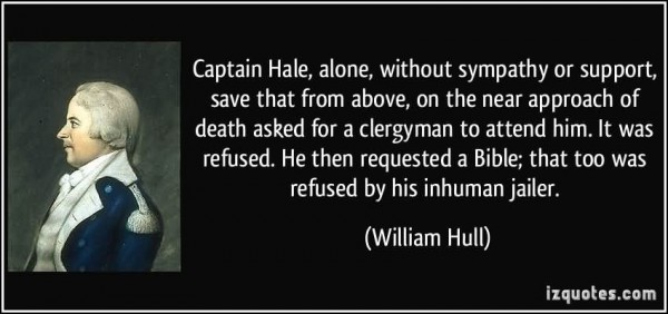 Captain hale alone without sympathy or support save that from above on the near appro