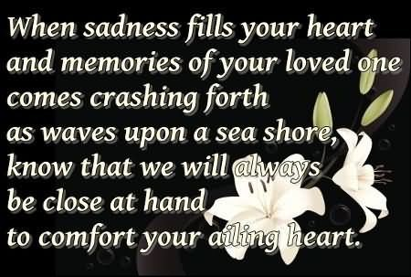 Memories Of A Loved One Quotes Delectable Sympathy Quotes  Storemypic