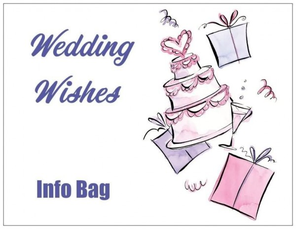 Wedding wishes info bag