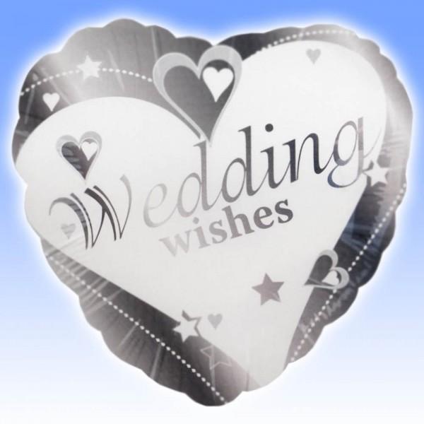 Wedding wishes on heart