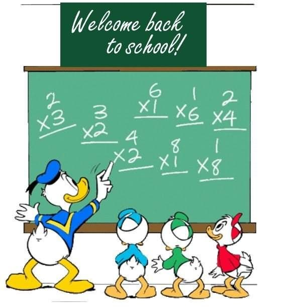 Welcome back to school donald duck