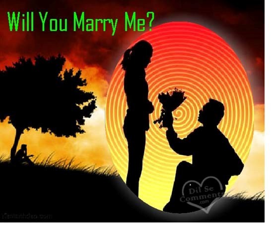 Will you marry me boy and girl