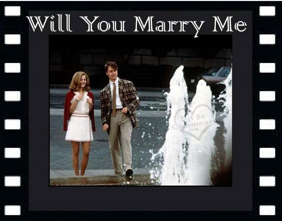 Will you marry me boy and girl fountain
