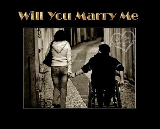 Will you marry me boy and girl sad