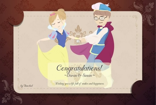 Wishing you a life full of smiles and happiness congratulation on wedding