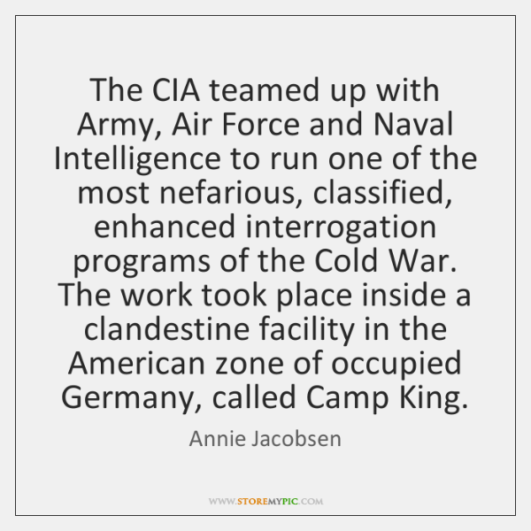 The CIA teamed up with Army, Air Force and Naval Intelligence to ...