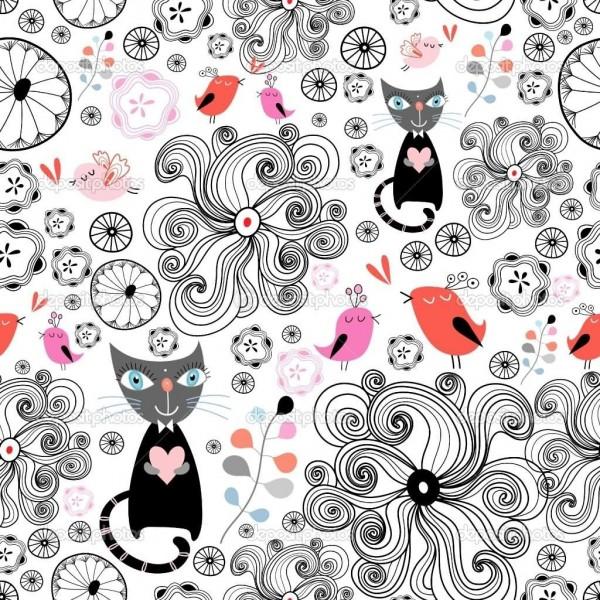 Beautiful animated cats