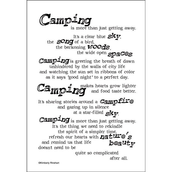 Camping is more than just getting away its a clear blue sky the song of a bird