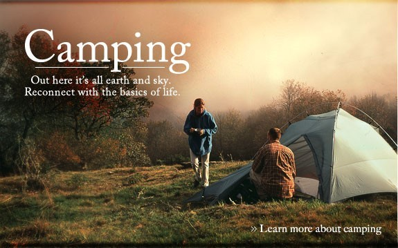 Camping out here its all earth and sky reconnect with the basic of life