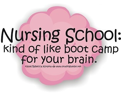 Nursing school kind of like boot camp for your brain